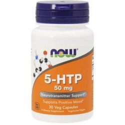 NOW 5-HTP 50mg - 30 Capsule vegetale